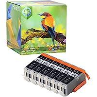 Ink Hero 6 顏料黑色墨盒 適用于 CLI-271 PGI-270 PIXMA MG5720 MG5721 MG5722 MG6820 MG6821 MG6822 MG7720 TS6020 TS8020 TS8020 TS9020 打印機墨水適用于噴墨打印機