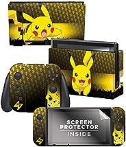 "Controller Gear 官方*任天堂 Switch 皮肤和屏幕保护膜套装 - Pokémon 精灵宝可梦 - ""皮卡丘Elemental Set 1"" - Ninte"