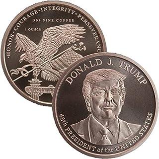 Trump 1 盎司99.99% 铜硬币*章,2016 年。2020 年。2024 年。