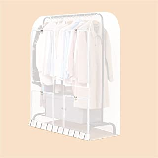 Acooltd 服装架盖,可重复使用的衣服架保护器,大容量防尘防水(半透明)尺寸:119.86 厘米 x 149.88 厘米 x 50.04 厘米)