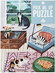 Talking Tables 小猫拼图海报,500片   图解宠物,动物   适合猫迷的礼物,下雨天的在家活动,生日礼物,圣诞节,墙壁艺术