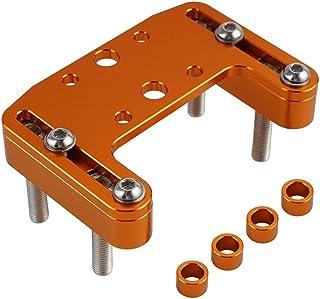 Rippin Moto CNC 导航仪支架 适用于 GPS 和配件 - 兼容 TrailTech 系统(橙色)