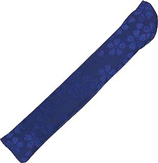 睫毛工艺 日本制造 扇子收纳 提花 樱花 藏青色 23.5厘米