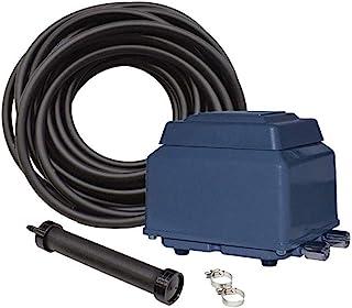 EasyPro+ Stratus KLC KOI 池塘曝气套件,带压缩机、扩散器、快速水槽管、电源线等,可实现 1000 至 7500 加仑(约 1000 至 7500 加仑)的特点,改善水、循环、安静、节能。