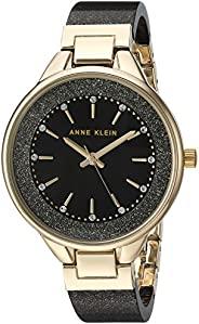 Anne Klein AK / 1408BYBY Burgundy Shimmer Resin 女士施华洛世奇水晶重音手镯手表
