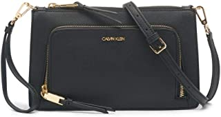 Calvin Klein Ava Saffiano 环绕式拉链斜挎包