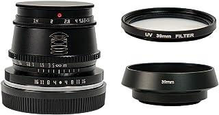 TTArtisan 35 毫米 F1.4 手动对焦 APS-C 格式固定镜头 适用于索尼 E 安装相机 黑色