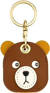 Tomcrazy 3 合 1 卡通保护套适用于 Apple Airtag 保护盖访问卡钥匙扣存储装饰吊坠适用于包/手提箱/宠物项圈(卡通熊)