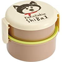 SKATER 便当盒 圆形 午餐盒 黑头巾柴犬 500ml ONWR1