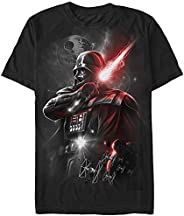 Star Wars 星球大战男式黑爵达斯维达图案 T 恤 黑色//白色 Large