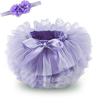 Anbaby 女婴蓬裙灯笼裤幼儿蓬蓬裙尿布套和蕾丝头带套装