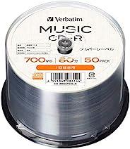 Verbatim 威宝 音乐用 CD-R 80分钟 50张 银色标签 带索引卡 AR80F50L-A