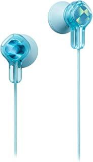 JVC 有线耳机带贴纸,蓝色 (HA-KD1A) HAKD1Z Kids Tinyphone Earbud Violet -