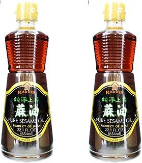 Kadoya 芝麻油,22.10 液量盎司(2 瓶装)