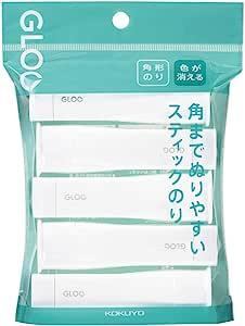 KOKUYO 国誉 胶棒 GLOO 颜色会消失 S 5个装 G311ー5P