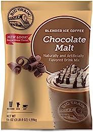 Big Train 混合冰咖啡,巧克力麦芽,速溶咖啡饮料混合,盛装热或冷,可制作混合包装饮料,3 磅(1 包)