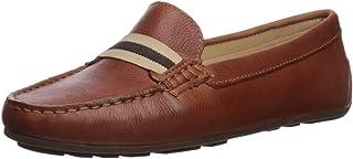 Driver Club USA 女士皮革巴西制造高增益丝带细节软帮乐福鞋