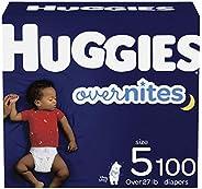 HUGGIES Overnites Nighttime 婴儿纸尿裤,尺寸 5,100 片