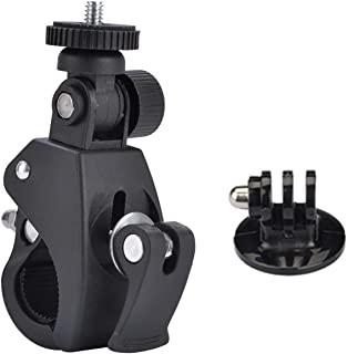 自行车车把安装夹适用于 GoPro 10/9/8/7/6/DJI OSMO/ Insta360 One R/ Yi 动作相机,摩托车自行车支架带 1/4 螺丝