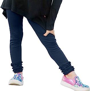 City Threads 女童褶边打底裤 * 纯棉,适合校服或玩耍 - 美国制造!