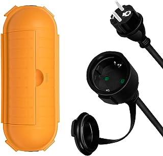 LogiLink LPS239 - 户外套装,电源线延长 + 电线保护盒,带 IP44 保护,电缆长度:3 米