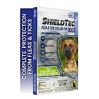 ShieldTec 抓绒和尖头狗项圈,适合 12 周或以上儿童,均码,6 个月保护