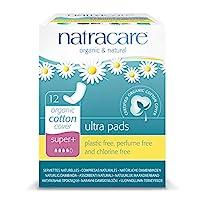 Natracare Natural Ultra Pad,Super Plus,12 个盒装(12 个装)