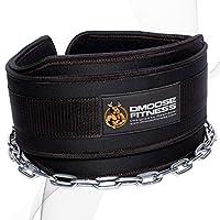 DMoose 健身高級皮帶帶鏈條 - 91.44cm 重型鋼鏈,舒適貼合氯丁橡膠,雙線縫合 - *大程度提高您的舉重和塑性鍛煉