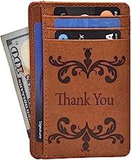 estalon RFID 前袋錢包極簡 wallets 皮革修身錢包錢夾 RFID 屏蔽帶禮盒男式和女式