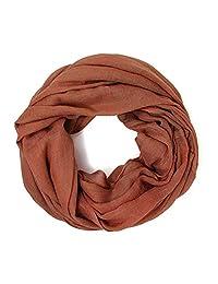Me Plus 女士棉質純色柔軟輕質環繞頸圍裹無限圍巾