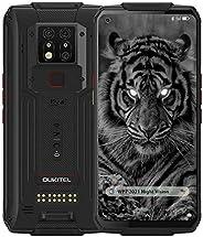 WP7 坚固智能手机,2021 夜视摄像头 6GB + 128GB Helio P90 防水解锁 Android 10 手机 6.53 英寸 FHD+ 全球 4G LTE 双 SIM 卡,IP68 三重摄像头 NFC A