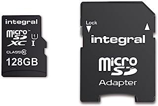 Integral UltimaPro MicroSDHC Class 10 内存卡 高达 90 MB/sINMSDX128G10-80/25U1 128 GB without USB 3.0 Reader
