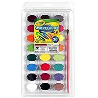 "Crayola 可洗水彩,24 支装 (53-0524) ""Multi"" 1包 53-0524"