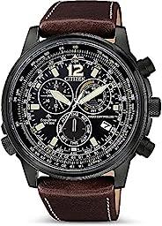 Citizen 西铁城 男式计时光动能手表皮革表带 CB5865-15E