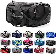 运动包 健身包 手提包 男士 女士 行李袋 单肩包 健身包 游泳池 包 旅行 假日 带子 运动包 行李 周末 过夜 露营 套装 包 小号 20L 大号 40L, 黑色//白色, 20L 17x10x8 &q
