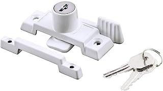 Prime-Line U 9933 钥匙扣腰带锁,2-1/4 英寸(约 5.4 厘米)孔中心,锌压铸,白色表面