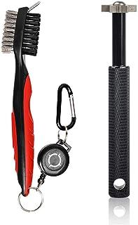 HIFROM 高尔夫配件套装 - 高尔夫球杆槽磨刀器带伸缩绳高尔夫球杆刷/槽清洁器,适用于高尔夫球杆