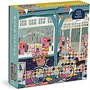 Galison 图书天堂 拼图,1000 片,20 x 20 英寸(约 50.8 x 50.8 厘米) – 难度拼图,Victoria Ball 书店令人惊叹的彩色艺术品 – 厚实、坚固的拼块、具有挑战性的家庭活动