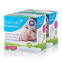 Brush Baby 牙齒濕巾 56 Wipes (Pack of 2)