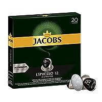 Jacobs 咖啡胶囊 Espresso Ristretto,浓度12/12,200粒兼容Nespresso,10 x 20杯