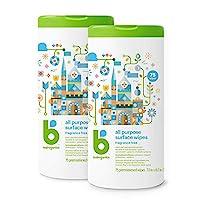 babyganics 通用表面濕巾,無香料,150 片(含 2 個 75 個罐子)