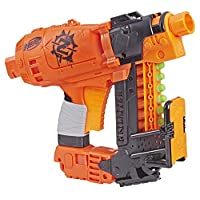 Hasbro 孩之宝 Nerf 热火 Nailbiter Zombie Strike 冲击波玩具枪– 8枚正式的Zombie Strike精英飞镖,8箭索引夹–生存系统,适用于儿童,青少年,成人