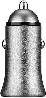Shot Case 双 USB 金属点烟器适配器适用于无限汽车双插座 2 端口通用充电器(银色)