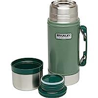Stanley 史丹利 經典傳奇真空保溫飯盒 24 盎司(約 680.4 克) – 不銹鋼,不含雙酚 A 的容器 – 保溫或保冷 15 小時 – 防漏,易于清潔