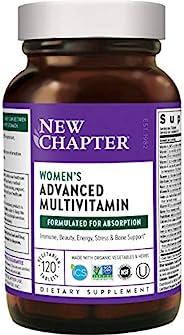 NEW CHAPTER 女性日常补充剂 女性复合维生素 由益生活性菌+铁+维生素D3+Organic Non-GMO 成分发酵 120ct