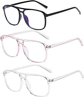 TR90 蓝光眼镜 – 3 件装电脑游戏眼镜大眼镜框架,防眼*老花镜