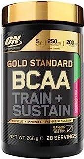 Optimum Nutrition欧普特蒙 金标BCAA支链氨基酸(含维生素C,Wellmune,Rhodiola rosea和电解质,ON的BCAA粉)草莓猕猴桃,28份,266g