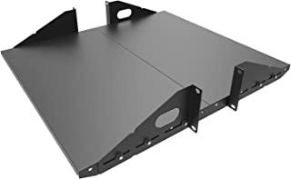 Jingchengmei 2U 拆卸式悬臂服务器架架架 - 48.26 厘米 2 件套中心加重安装- 可调节深度实心,黑色(2U2PC10S,黑色)