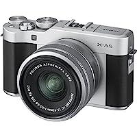 Fujifilm 富士 X-A5 相机,带 XC15-45 毫米 F3.5-5.6 OIS PZ 镜头,银色