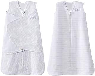 HALO 赫拉 婴儿睡袋 纯棉 铂金礼盒 两件套 灰色圆点 S(0-6个月) NB(0-3个月)+灰色木纹 春夏薄款